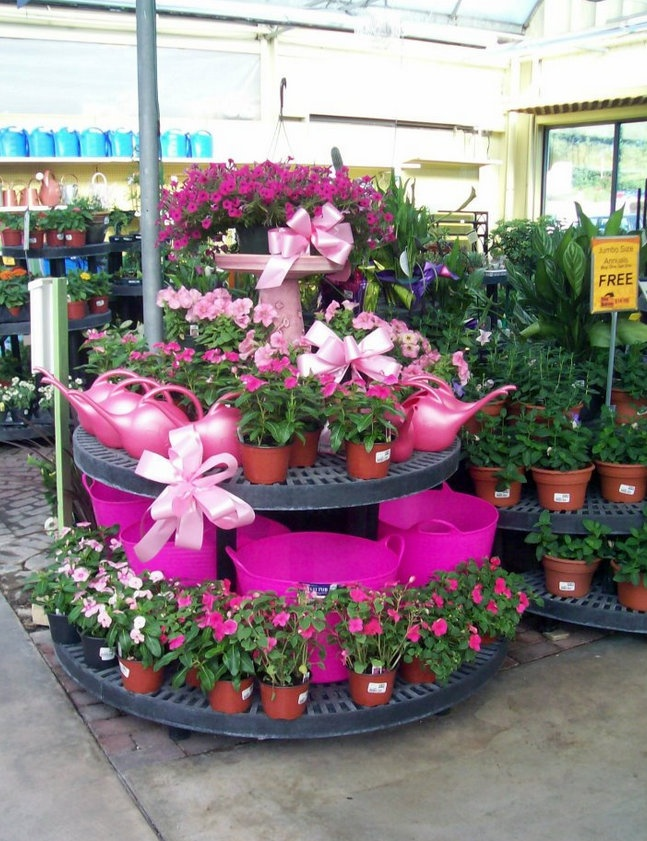 From Stauffers of Kissel Hill Garden Center: East York Garden Center did a great job decorating for Pink Day, June 9th at their store! — in York. #noveltymfg
