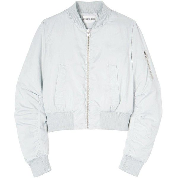 Won Hundred Mattie Bomber Jacket (7,695 PHP) ❤ liked on Polyvore featuring outerwear, jackets, tops, grey, grey jacket, gray jacket, blouson jacket, won hundred and bomber jacket