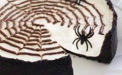 No-Bake Spiderweb Cheesecake | Just Cheesecake | Pinterest ...