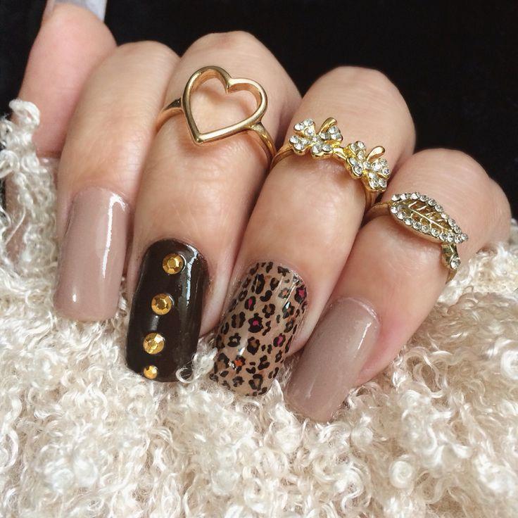 #nailart #nail #art #inspiration #animalprint #naillacquer #lacquer #nude