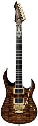 2015 Diamond Guitars Halcyon ZB-FR Electric Guitar - Kona Brown Zoltan Bathory