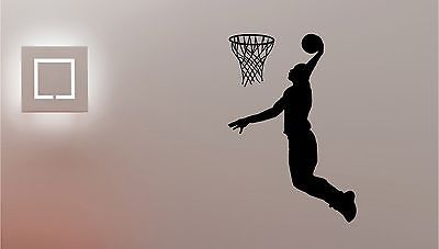 #Basketball player with hoop vinyl wall art sticker #children bedroom #sport spor,  View more on the LINK: http://www.zeppy.io/product/gb/2/121444909396/