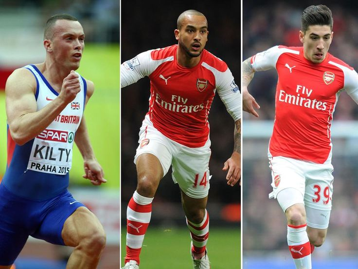 Richard Kilty Bets Arsenal Stars to a Race Worth £30.000 | Sportfanzine #richardkilty #arsenal #hectorbellerin #theowalcot