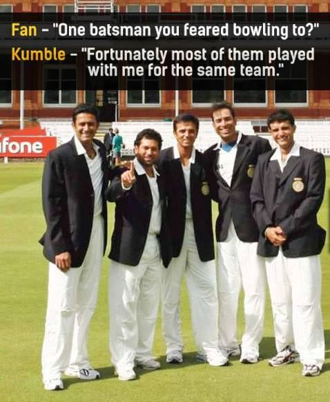 Anil Kumble Sachin Tendulkar Rahul Dravid VVS Laxman #SouravGanguly  Fantastic Five They Said Well Said - http://ift.tt/1ZZ3e4d