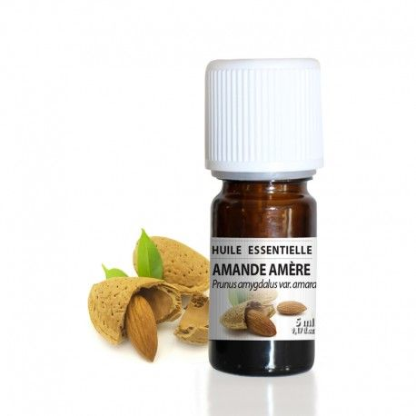 Amande amère - Huile essentielle 5 ml Prunus amygdalus var. amara L'huile essentielle d'Amande amère naturelle est réputée pour son odeur sucrée, gourmande et enivrante proche de celle du sirop d'orgeat. Elle est principalement utilisée en cuisine pour aromatiser les pâtisseries (frangipanes, glaces, crèmes patissières...) mais est également réputée pour ses propriétés tonifiantes, raffermissantes et stimulantes de la peau. Son odeur suave et intense font de cette huile essentielle une…