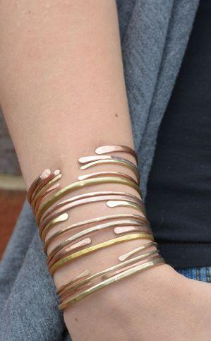 Hammered bangles