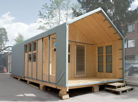 6 Hours + 2 Adults = 1 Post-Disaster Prefab 5-Person Home