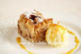 dailydelicious: Chicken Farm Baker's Project # 41 : Makeover Bread Pudding, Crêpe Suzette Bread pudding