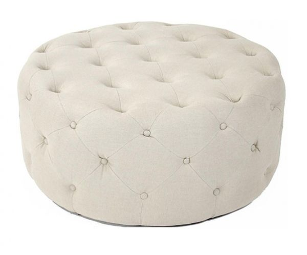 17 best images about walkin on pinterest iron gates pedestal and vase - Pouf blanc capitonne ...