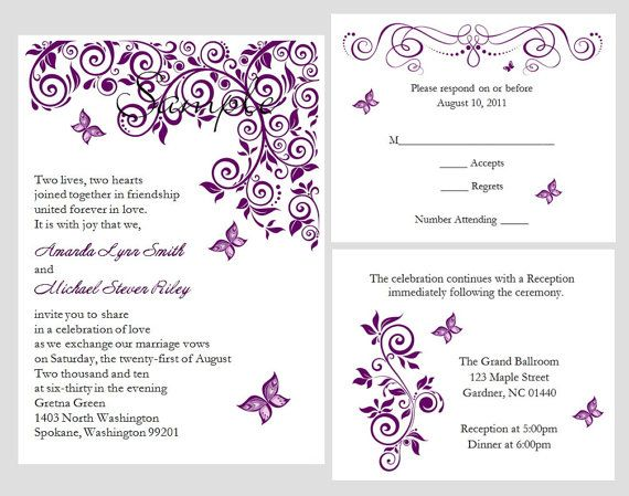 Brides Wedding Invitation Kits: 25+ Best Ideas About Wedding Response Cards On Pinterest