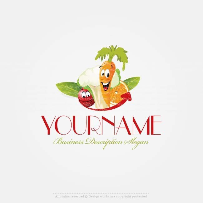 Create a Logo – Fruits Vegetable logo template