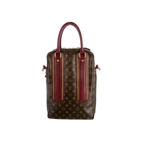 Pre-owned Louis Vuitton Bequia Porte Document Vertical Bag (€1.370) ❤ liked on Polyvore featuring men's fashion, men's bags, mens vertical messenger bag, louis vuitton mens bag and mens bags