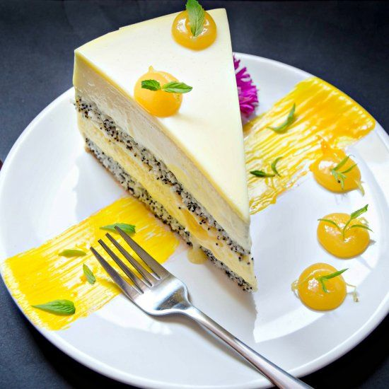 Mango and Lemon Entremet