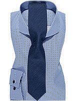 OLYMP Kombination Hemd& Krawatte in blau. #olymp #hemd #krawatte