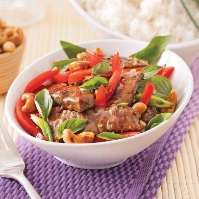 Boeuf au basilic thaï - Recettes - Cuisine et nutrition - Pratico Pratique