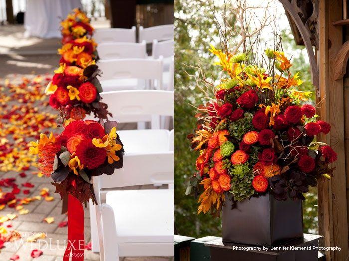 beautiful fall wedding colors