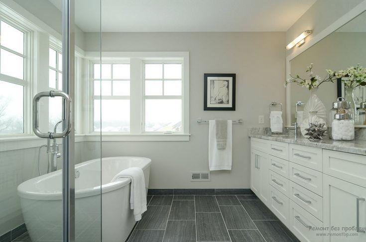 Серая ванная: интерьер и дизайн комнаты в сером цвете на фото