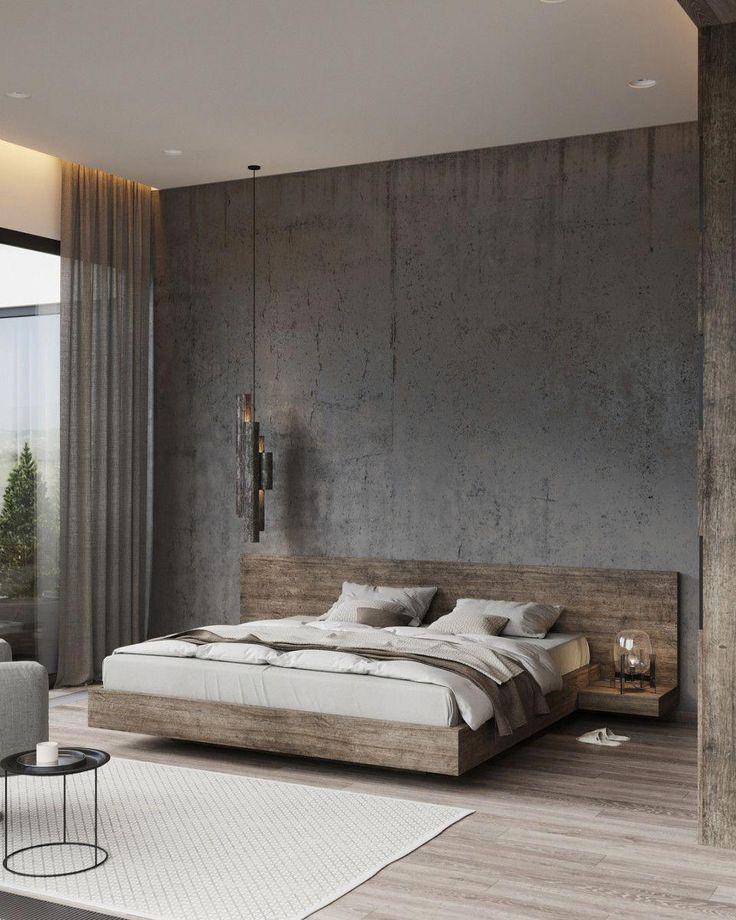 rustic bedroom daily interior design inspiration | Minimal Interior Design Inspiration | Modern bedroom ...