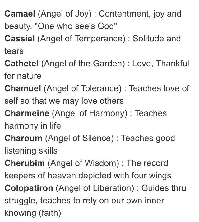 List of archangels...