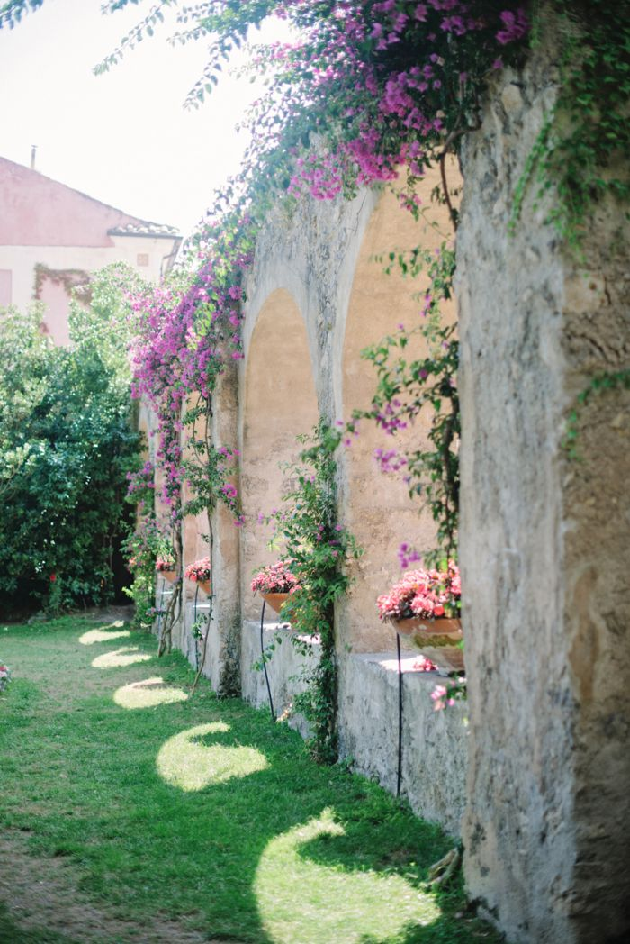 Gardens at Villa Cimbrone in Ravello Italy.