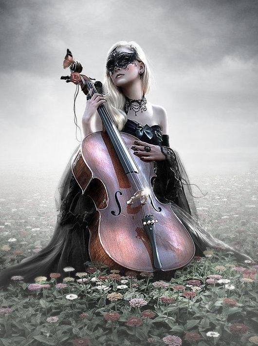 cello player asian goth