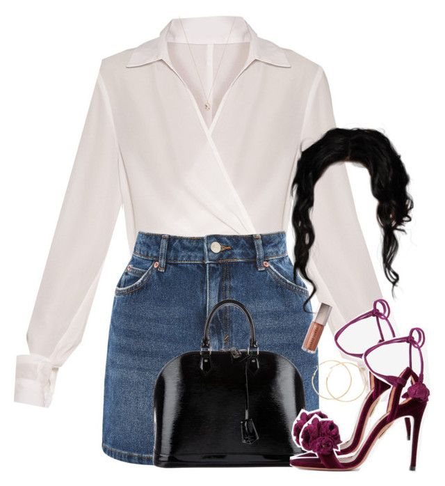 yall let my sets flop so I'm done w/ poly. by daisym0nste on Polyvore featuring Topshop, Aquazzura, Louis Vuitton and Eva Fehren