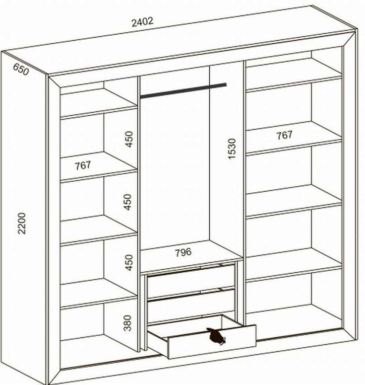 спроектировать встроенный шкаф купе