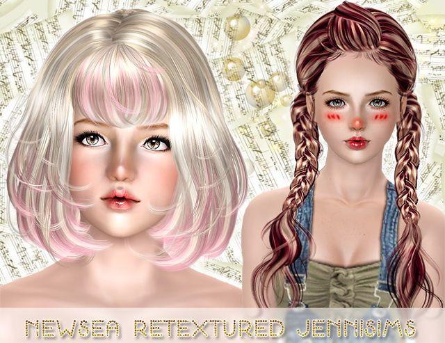 Sims 3 flower hair