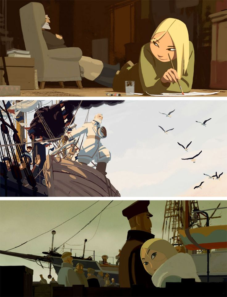 Longway North (original Tout en Haut du Monde) is a short animation film about Sacha, a young Russian aristocrat that leaves her comfortable live to search for her missing father, a researcher and explorer of glaciers. Click the image for the trailer.
