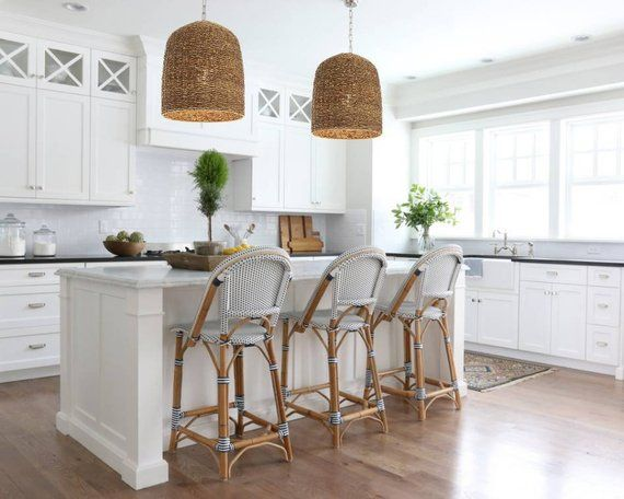 Barn Rattan Pendant Light Kitchen Pendants Abaca Fibre Etsy