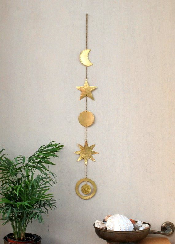 Br Wall Hanging Celestial Decor Boho Mobile Sun Moon Phases Star Planet Galaxy Wal