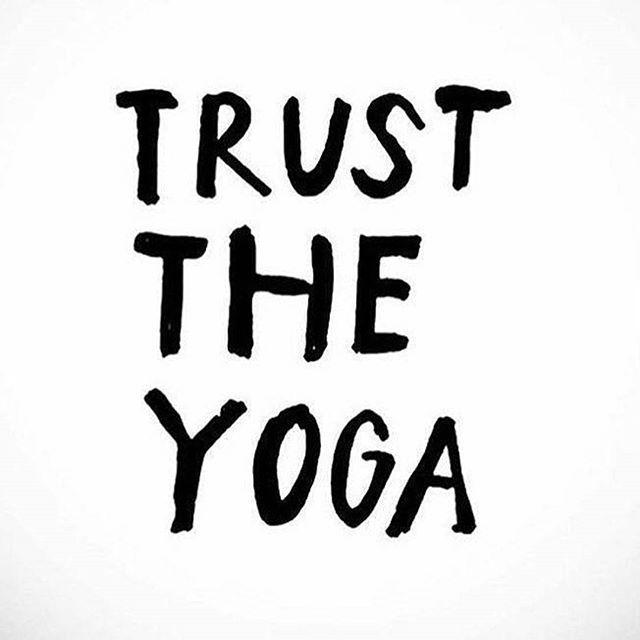 Trust in the yoga magic. Inspirational quotes + motivational quotes + yoga quotes