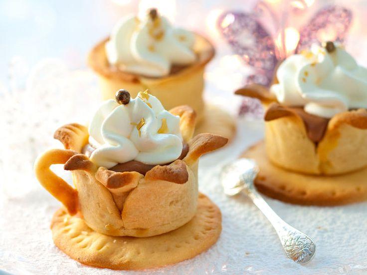Avec les lectrices reporter de Femme Actuelle, découvrez les recettes de cuisine des internautes : Magie de chocolat-café dans sa tasse sablée