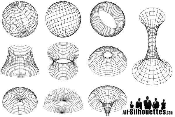 Free Vector 3D Geometric Models Shapes