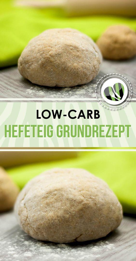 Das Grundrezept für den low-carb Hefeteig ist glutenfrei und super für Pizzen, Teigtaschen und Ähnliches.