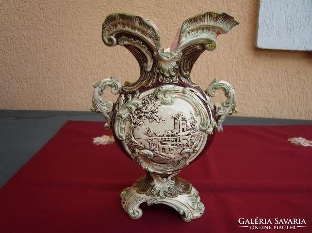 Szep antik majolika vaza