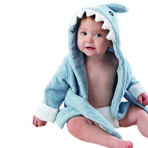 """News Baby Aspen """"Let the Fin Begin"""" Blue Terry Shark Robe, Blue, 0-9 months   buy now     $21.97 Mom and Dad are going fall for this terry-ific sea-inspired robe--hook, line and little stinker! After a refreshing bath time ... http://showbizlikes.com/baby-aspen-let-the-fin-begin-blue-terry-shark-robe-blue-0-9-months/"""