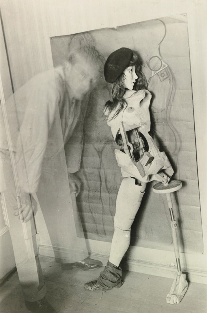 "chagalov: "" Hans Bellmer, Self-Portrait with 'Die Puppe', Paris, 1934 [+] from sotheby's """