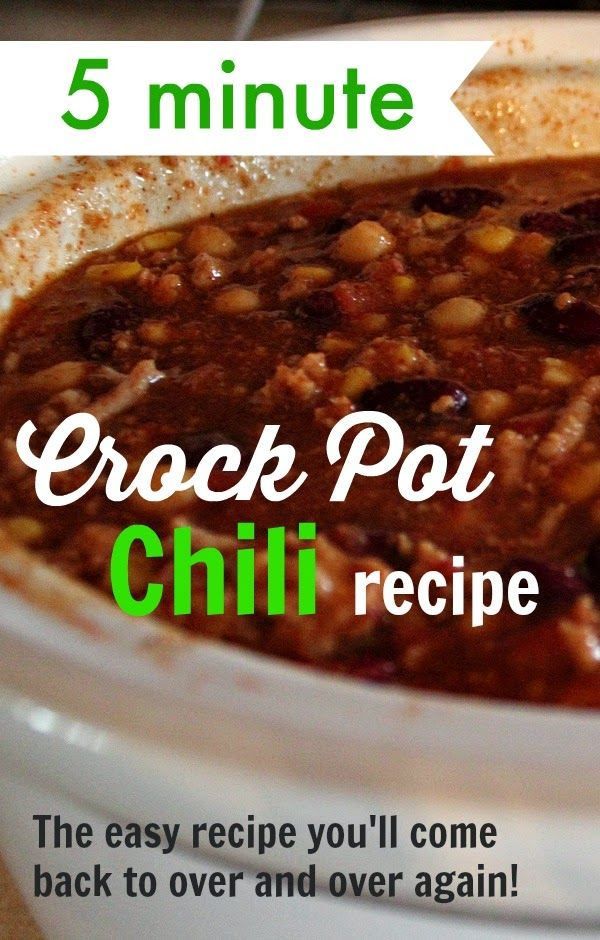 A great basic chili recipe that you can make in a flash. Makes lots of leftovers!