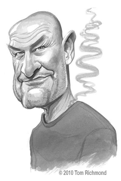 "This week we continue our ink-wash sketches of the characters of the TV show ""LOST"" with Terry O'Quinn AKA John Locke AKA Smokey the Monster."