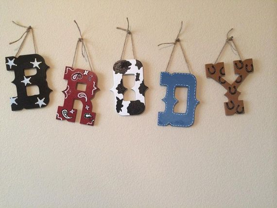 Hey, I found this really awesome Etsy listing at https://www.etsy.com/listing/171798432/western-cowboy-nursery-letters