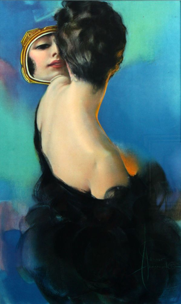 Rolf Armstrong 1920s - inspired by the use of colour and the sightly surreal composition