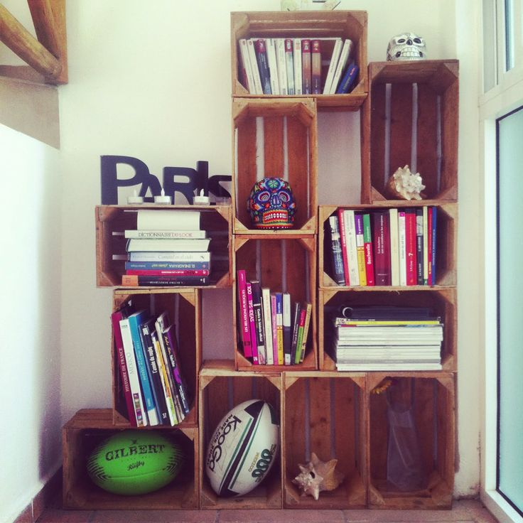 Crates turned into storage #upcycle