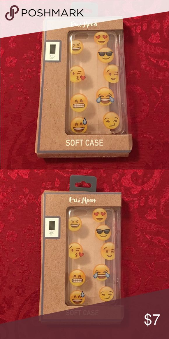 NIP Emoji Soft Phone Case Cover for iPhone 6/6s NIP Emoji Soft Phone Case Cover for iPhone 6/6s. New In Package, although box is flattened at one end due to another box being set on it momentarily. Absolutely no damage to phone case. Other