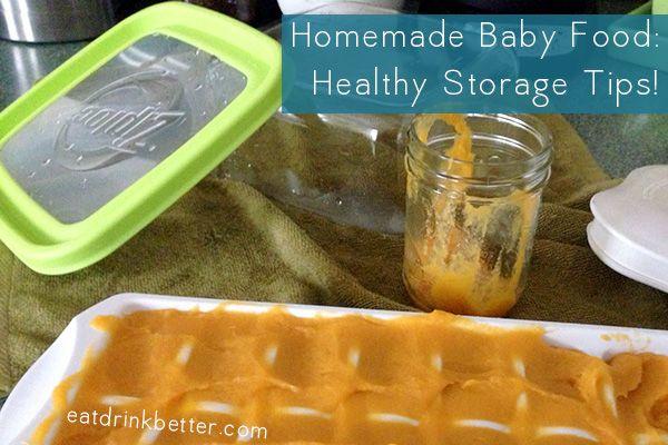 homemade baby food storage