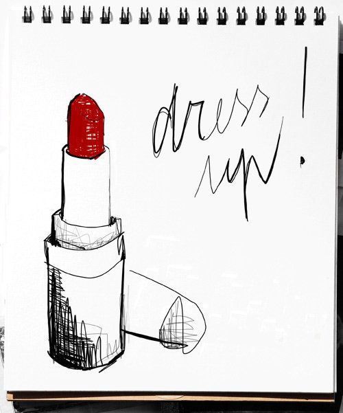 No Fall mouth is complete without a little cherry on top. Illustration by Garance Dore.