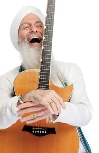 Guruganesha Singh, a wonderful kirtan artist and guitar player. {Guest Speakers}