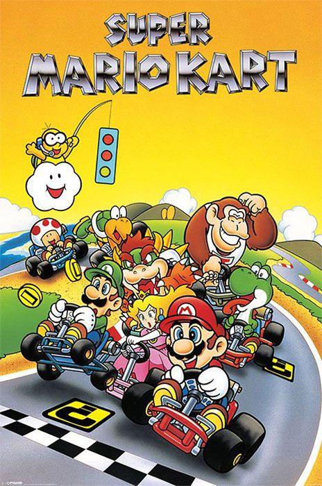 "Super Mario Kart - Retro - 24"" x 36"" $9.99                                                                                                                                                                                 More"