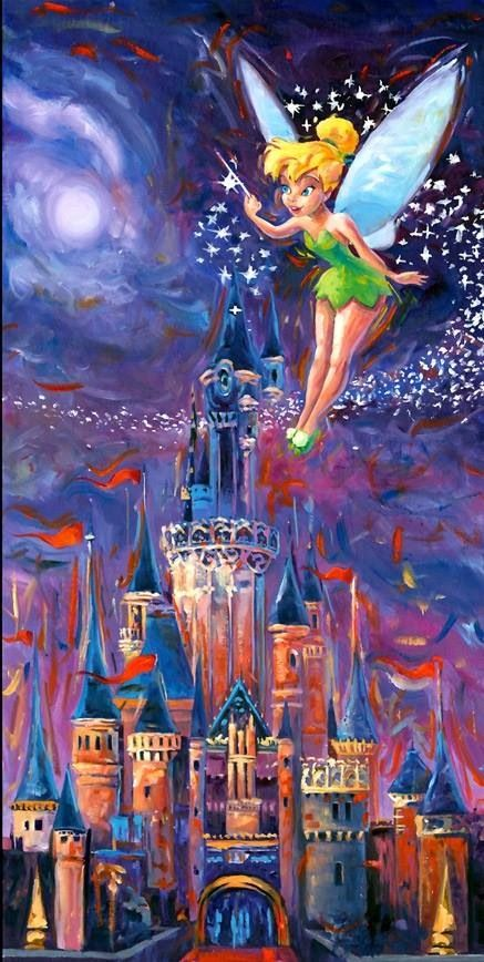 Disney Castle and Tink Artwork!!!!! XD <3
