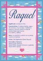 Raquel - Nombres, El significado de los nombres, Tu nombre, Tarjetas postales TuParada.com